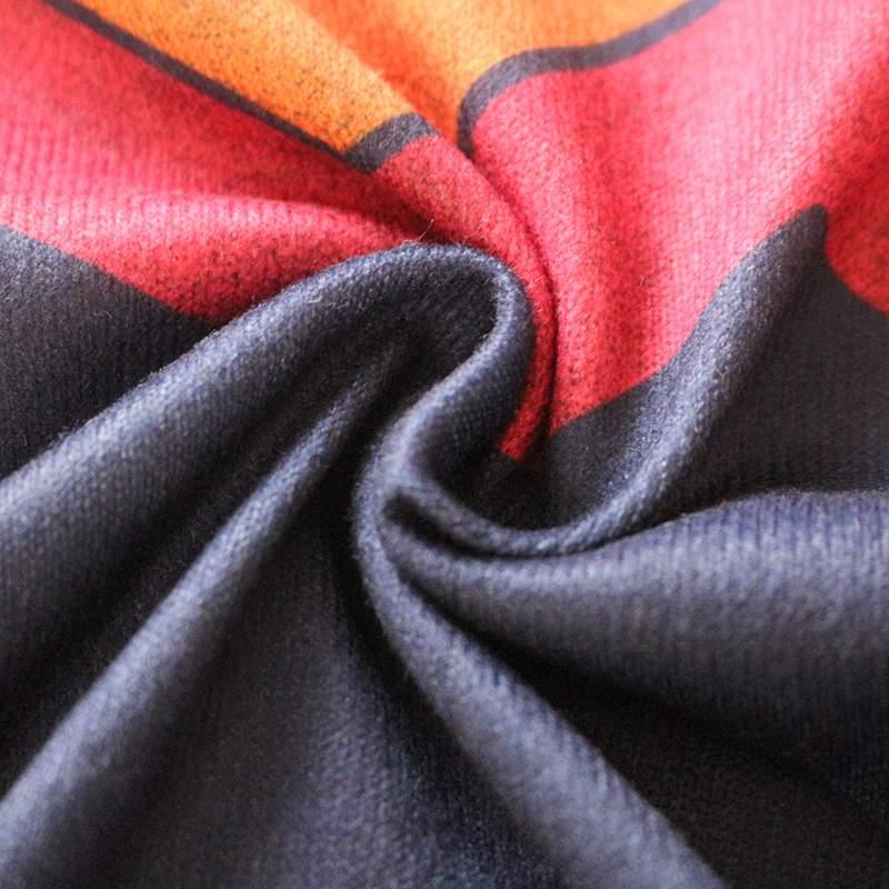 Moda-de-Otono-Para-Mujer-Camiseta-Estampada-Ondulado-Geometrico-de-Manga-La-X4X1 miniatura 9