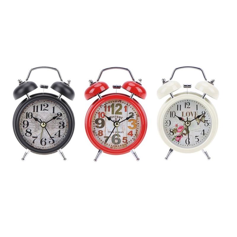 2X-Reveil-Retro-de-Menage-Double-Cloche-de-Numero-Rond-Horloge-Numerique-deW7J3 miniature 7