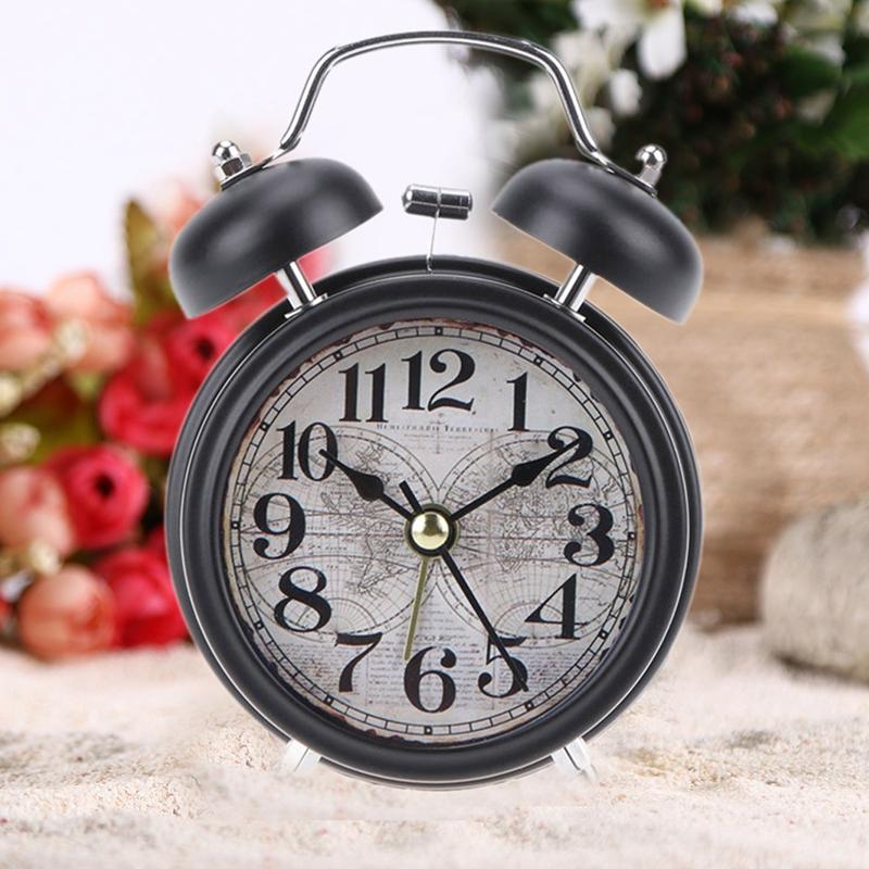 2X-Reveil-Retro-de-Menage-Double-Cloche-de-Numero-Rond-Horloge-Numerique-deW7J3 miniature 10