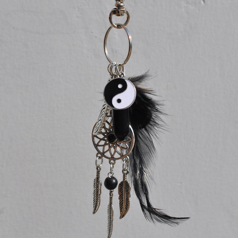 2X-Dream-Catcher-Keyring-Bag-Charm-Fashion-Boho-Jewelry-Feather-Keychain-M6L8 thumbnail 3