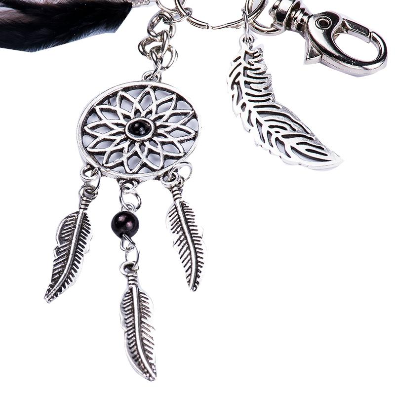 2X-Dream-Catcher-Keyring-Bag-Charm-Fashion-Boho-Jewelry-Feather-Keychain-M6L8 thumbnail 6