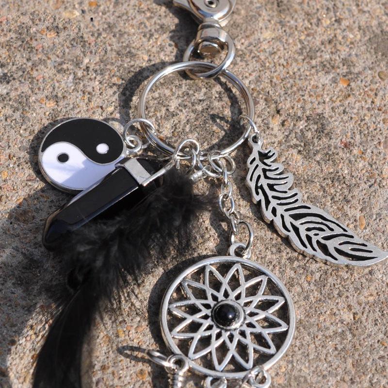 2X-Dream-Catcher-Keyring-Bag-Charm-Fashion-Boho-Jewelry-Feather-Keychain-M6L8 thumbnail 7