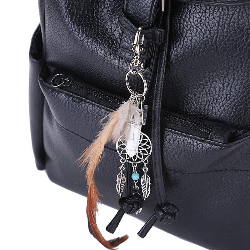 2X-Dream-Catcher-Keyring-Bag-Charm-Fashion-Boho-Jewelry-Feather-Keychain-M6L8 thumbnail 14