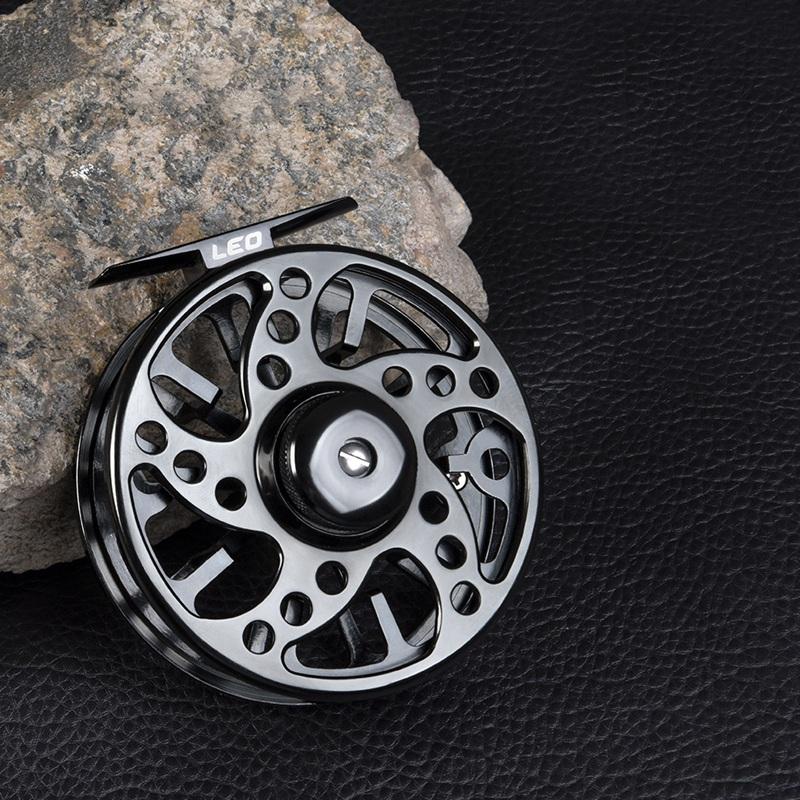 1X-LEO-2-1-Carrete-De-Pesca-con-Mosca-De-Rodamiento-De-Bolas-Carrete-De-PI6K9 miniatura 6