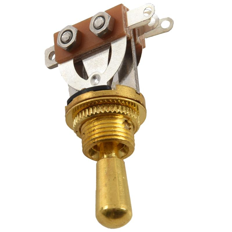 gold electric guitar 3 way toggle switch pickup selector switch with brass p4e4 192090413072 ebay. Black Bedroom Furniture Sets. Home Design Ideas