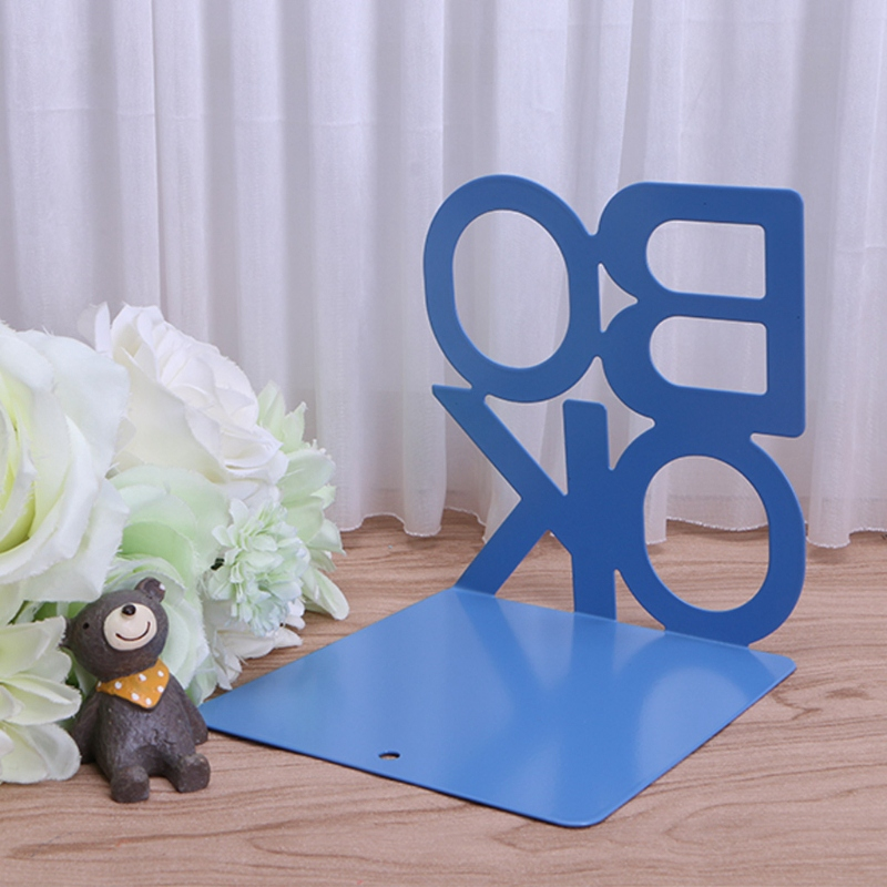 1X-Alphabet-Shaped-Metal-Bookends-Iron-Support-Holder-Desk-Stands-For-BooksT9N9 thumbnail 41
