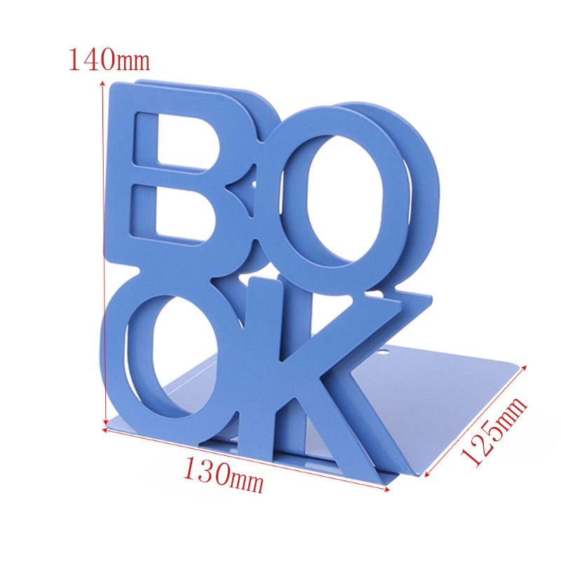 1X-Alphabet-Shaped-Metal-Bookends-Iron-Support-Holder-Desk-Stands-For-BooksT9N9 thumbnail 42