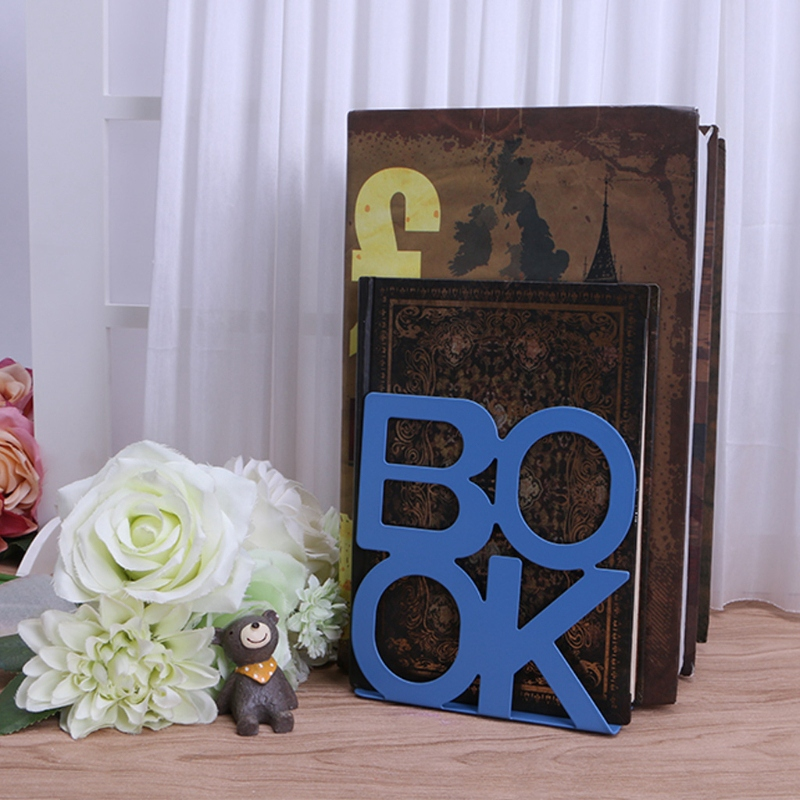 1X-Alphabet-Shaped-Metal-Bookends-Iron-Support-Holder-Desk-Stands-For-BooksT9N9 thumbnail 44