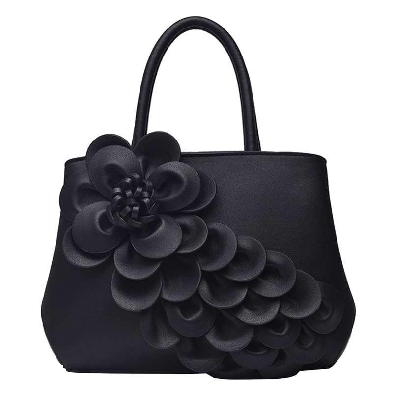 Pu Leather Luxury Women Tote Shoulder Bag Flower Handbags Female ...