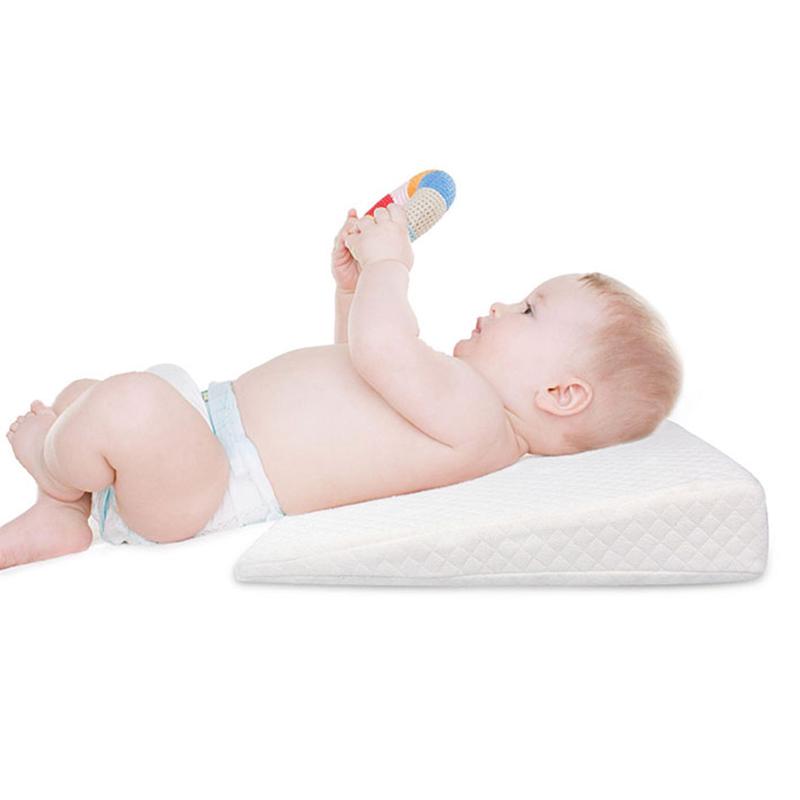 Newborn-Baby-Sleep-Pillow-Anti-Baby-Spit-Milk-Crib-Cot-Sleep-Positioning-WeS9C3 thumbnail 6