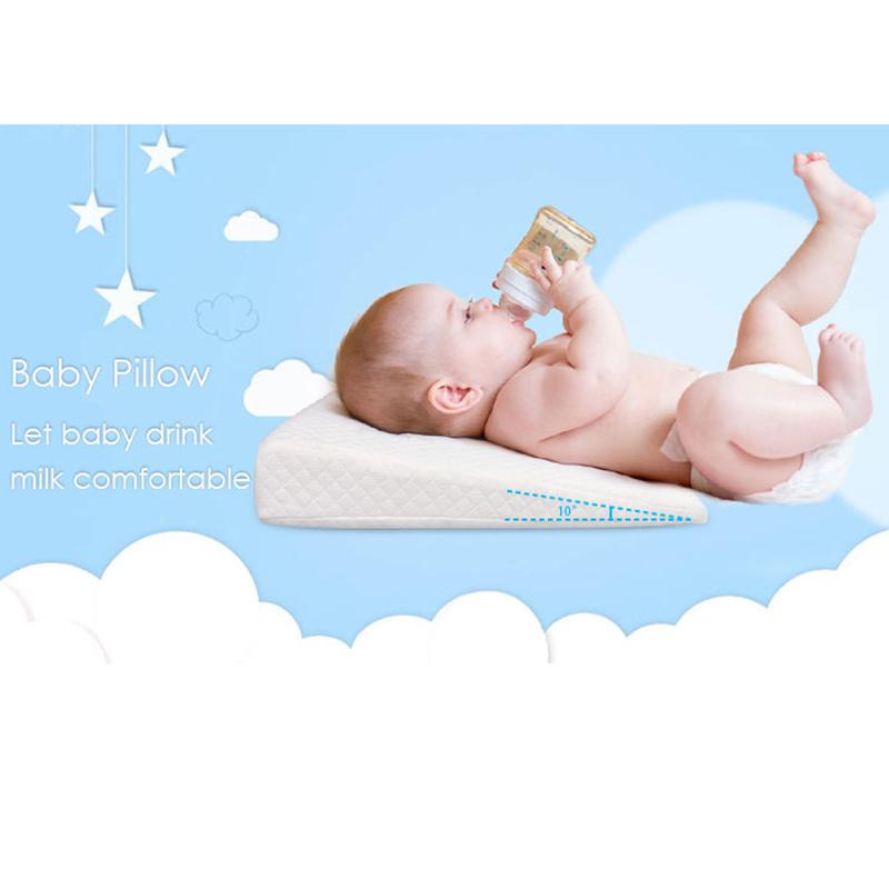 Newborn-Baby-Sleep-Pillow-Anti-Baby-Spit-Milk-Crib-Cot-Sleep-Positioning-WeS9C3 thumbnail 7