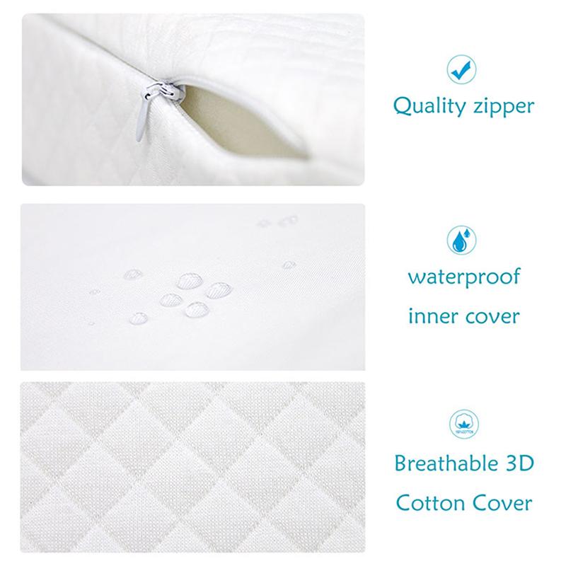 Newborn-Baby-Sleep-Pillow-Anti-Baby-Spit-Milk-Crib-Cot-Sleep-Positioning-WeS9C3 thumbnail 8
