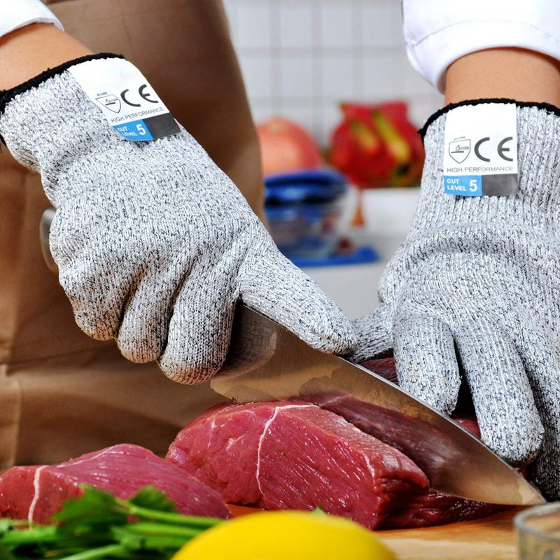 1 Set Of 5 Cut-Proof Wire Gloves Kitchen Woodworking Glass Cut-Proof Stab-R G9