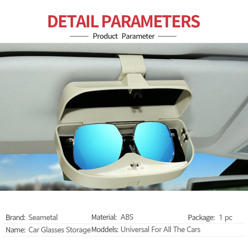 Organizador-De-Caja-De-Gafas-De-Coche-Soporte-Para-Gafas-De-Sol-Parasol-Bol-U5Y1 miniatura 12