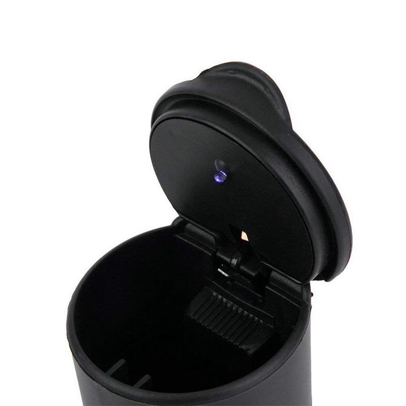 Cendrier Avec Couvercle et LED Lumière Pourporte-Gobelet F8H2