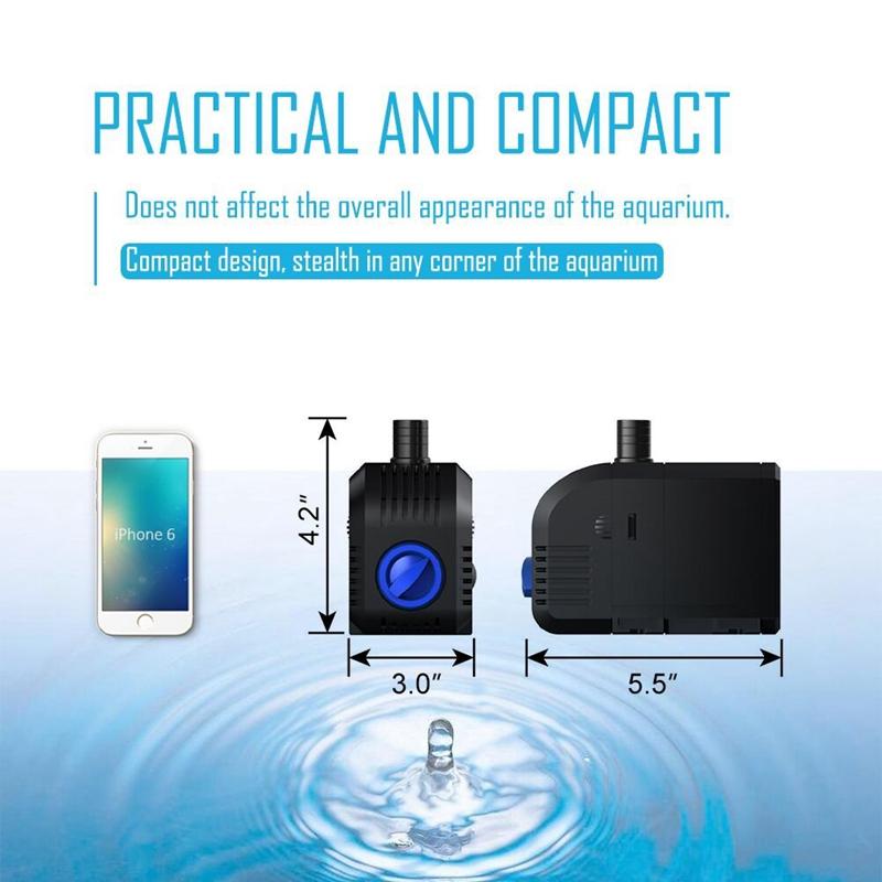 1X-45W-Mini-Tauchpumpe-Aquarium-Pumpe-Umlauffilter-Pumpe-Kleine-WasserpumpeQ3I7 Indexbild 3