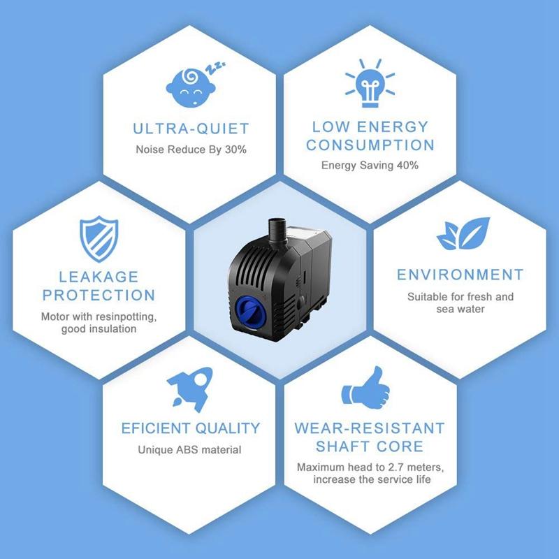 1X-45W-Mini-Tauchpumpe-Aquarium-Pumpe-Umlauffilter-Pumpe-Kleine-WasserpumpeQ3I7 Indexbild 7