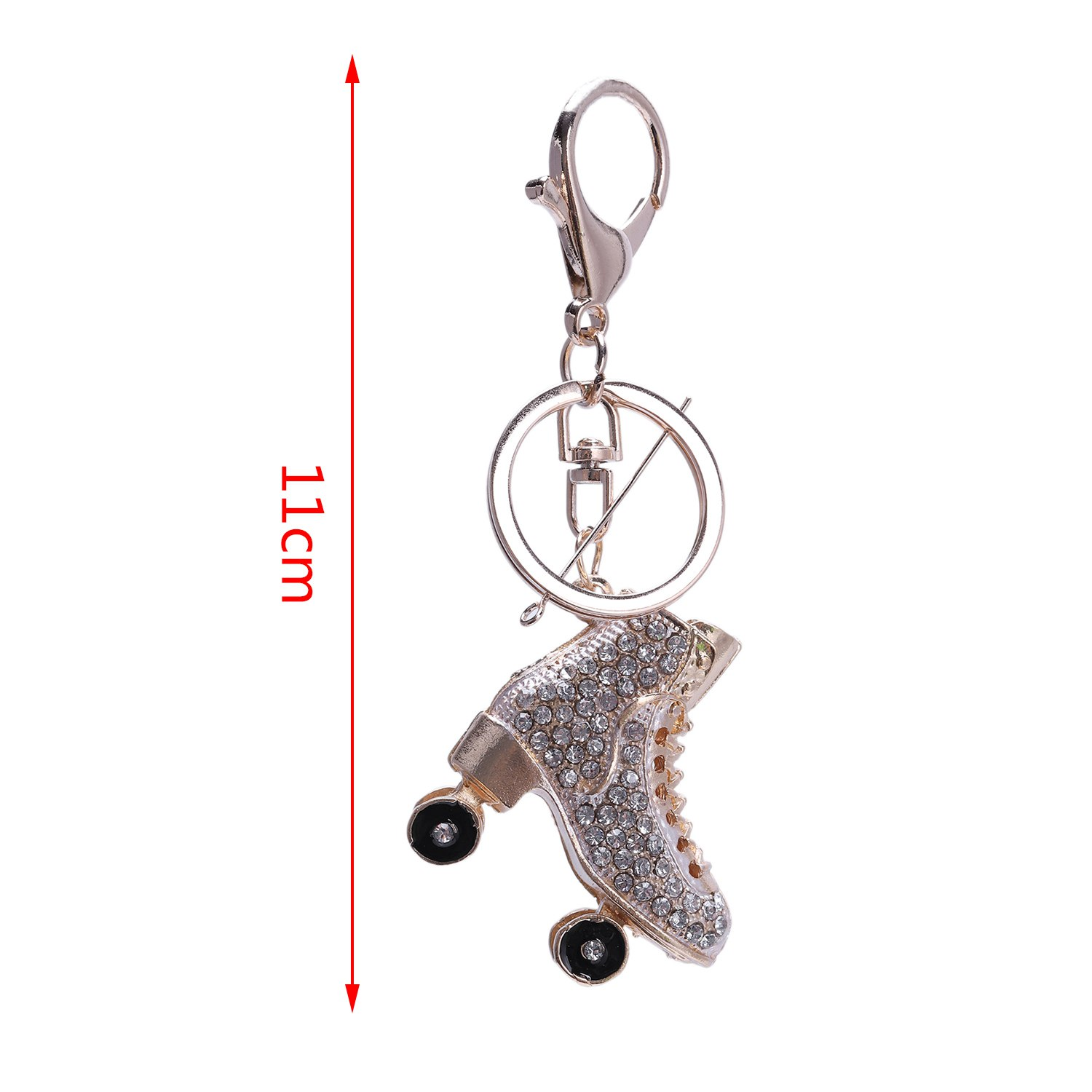 4X-Keyring-Bag-Charm-Pendant-Keys-Holder-Roller-Skates-Shoe-Keychain-Jewelr3L4 thumbnail 16