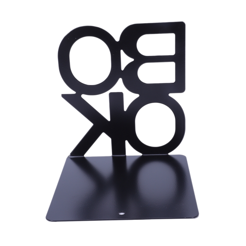 1X-Alphabet-Shaped-Metal-Bookends-Iron-Support-Holder-Desk-Stands-For-BooksT9N9 thumbnail 3