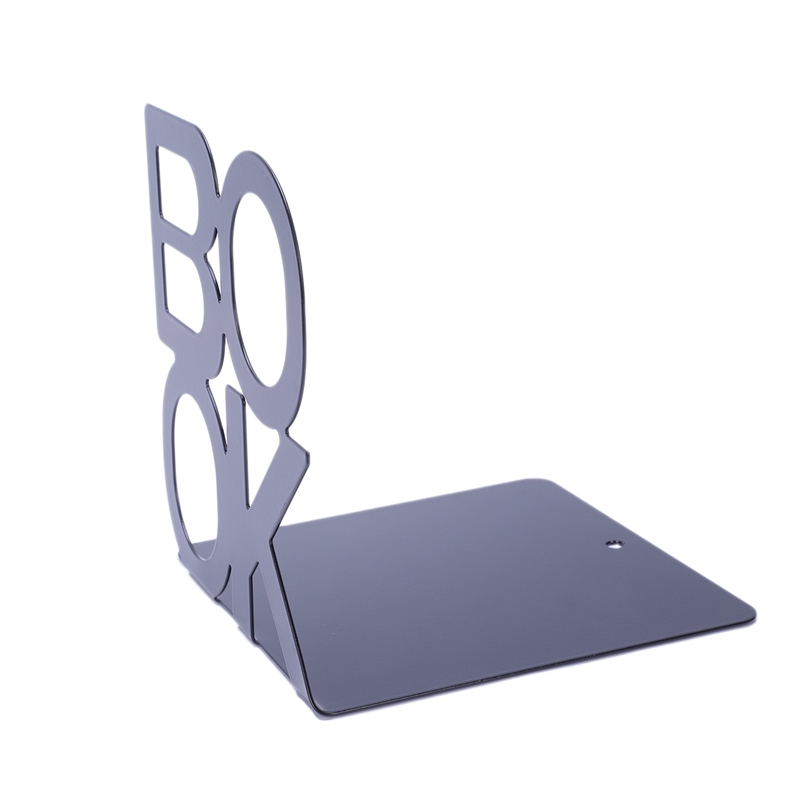 1X-Alphabet-Shaped-Metal-Bookends-Iron-Support-Holder-Desk-Stands-For-BooksT9N9 thumbnail 4