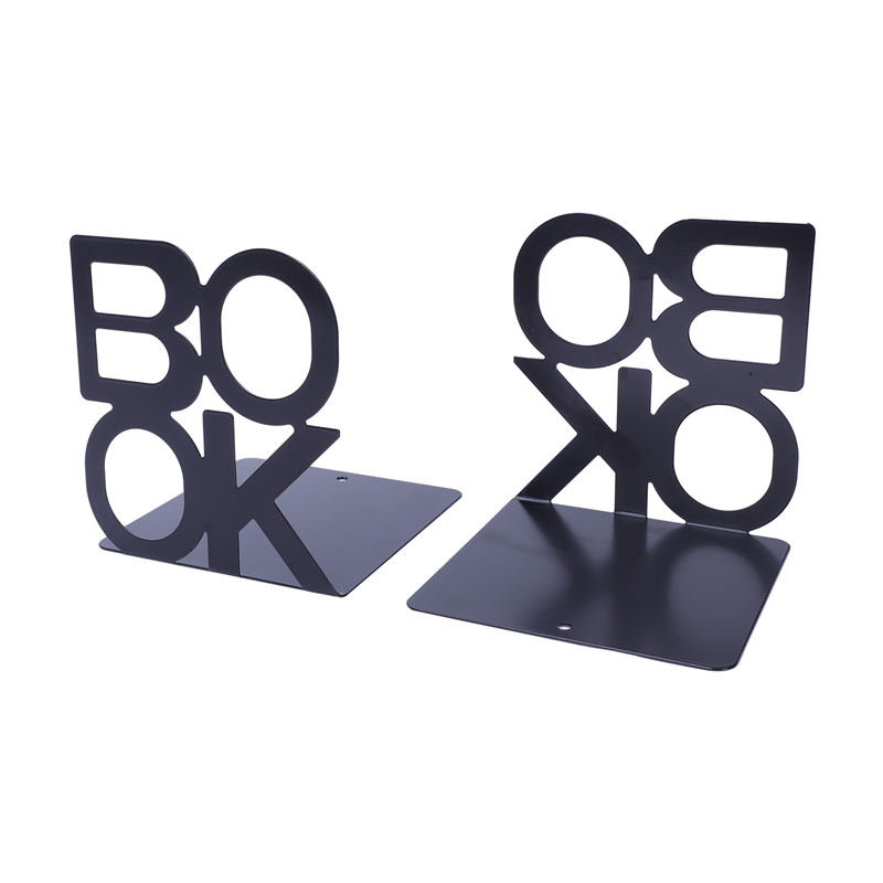 1X-Alphabet-Shaped-Metal-Bookends-Iron-Support-Holder-Desk-Stands-For-BooksT9N9 thumbnail 7