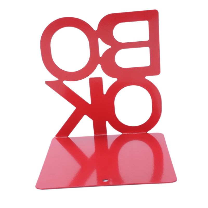 1X-Alphabet-Shaped-Metal-Bookends-Iron-Support-Holder-Desk-Stands-For-BooksT9N9 thumbnail 16