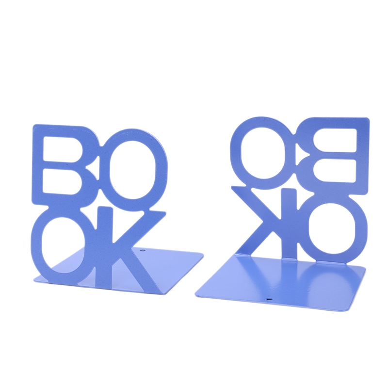 1X-Alphabet-Shaped-Metal-Bookends-Iron-Support-Holder-Desk-Stands-For-BooksT9N9 thumbnail 30
