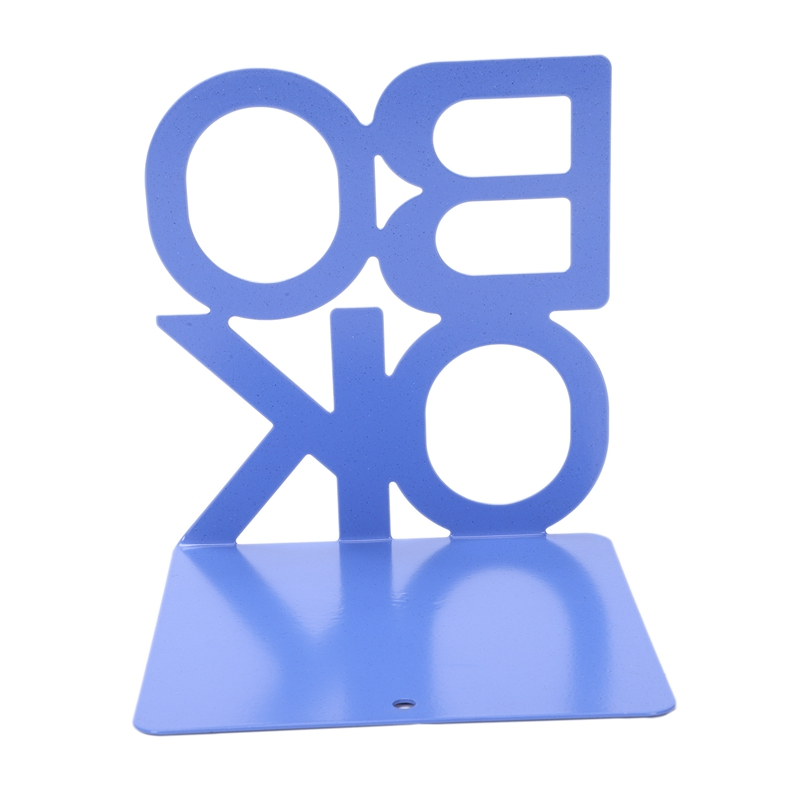 1X-Alphabet-Shaped-Metal-Bookends-Iron-Support-Holder-Desk-Stands-For-BooksT9N9 thumbnail 34