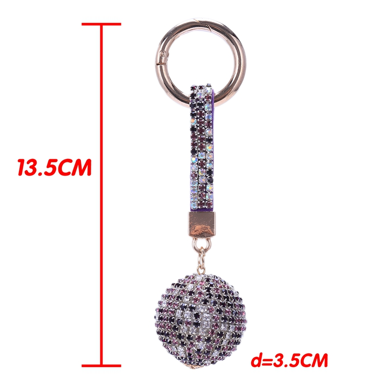 Strap-Ball-Car-Keychain-Charm-Pendant-Key-Ring-For-Women-M1A1 thumbnail 28