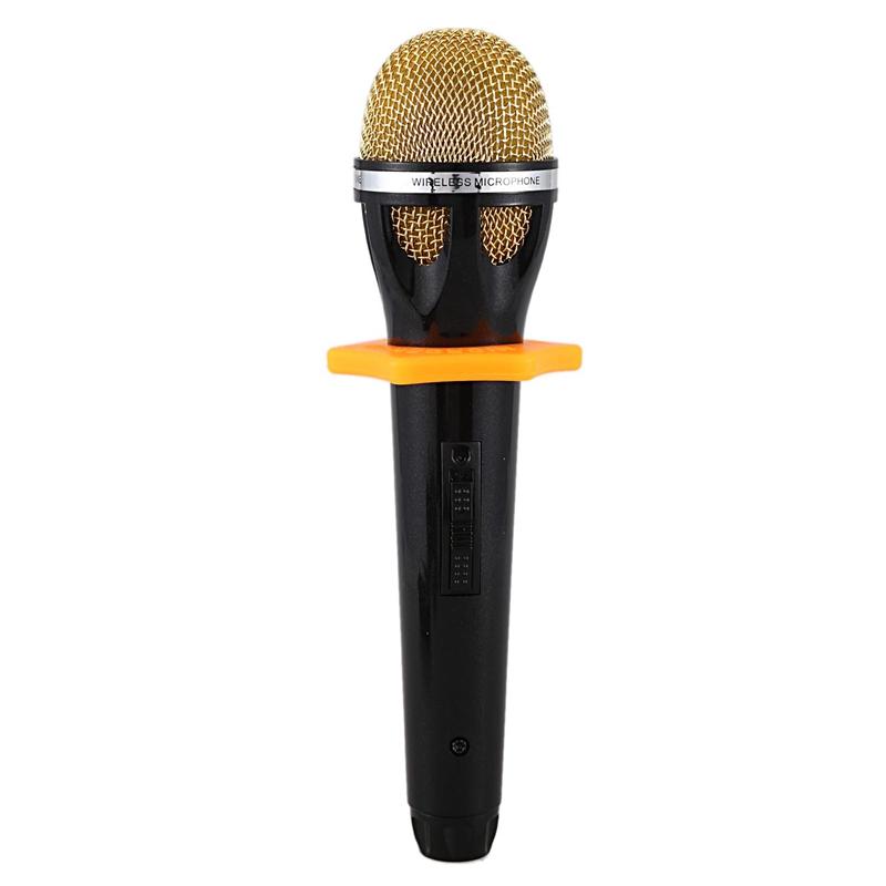 3X(K18 UHF Microfono Wireless Karaoke Mic Per Computer Android Smartphone I Q7D3