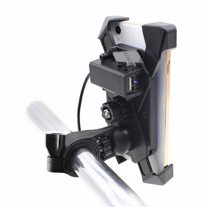 1X Motorrad USB Ladegerät 12-30 V Universal Motorrad Handy Gps Halterung Mo P9H6