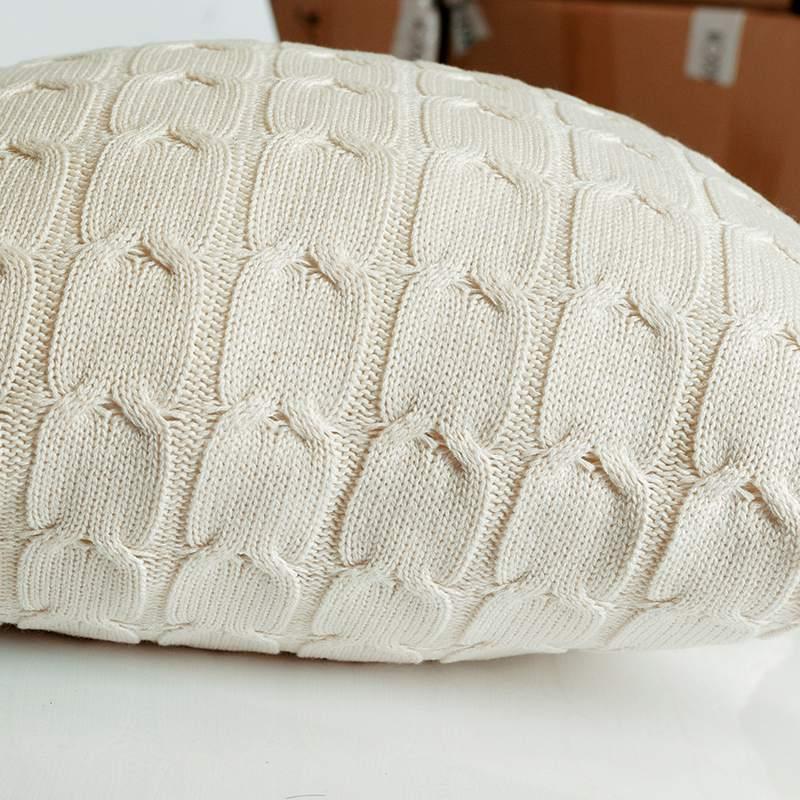 Housse-de-Coussin-Style-Retro-En-Laine-Tricotee-Taie-D-039-Oreiller-Solide-Cana-4P8 miniature 7