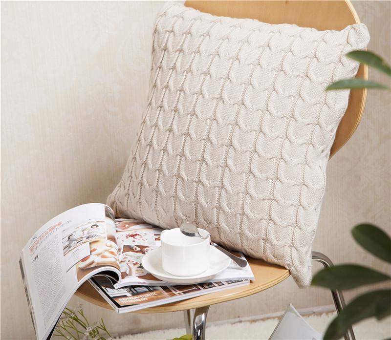 Housse-de-Coussin-Style-Retro-En-Laine-Tricotee-Taie-D-039-Oreiller-Solide-Cana-4P8 miniature 8