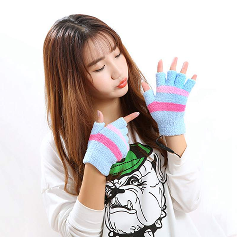 1-Paar-USB-Handschuhe-Beheizte-Winter-Warme-Handschuhe-Beheizte-Fingerlose-Y5R8 Indexbild 5