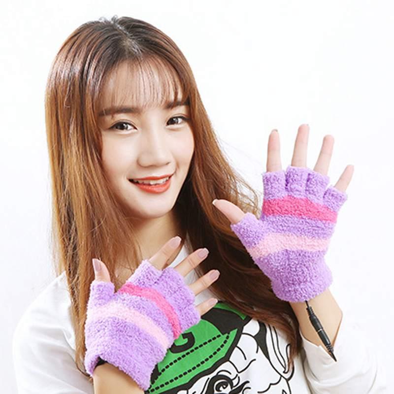 1-Paar-USB-Handschuhe-Beheizte-Winter-Warme-Handschuhe-Beheizte-Fingerlose-Y5R8 Indexbild 19