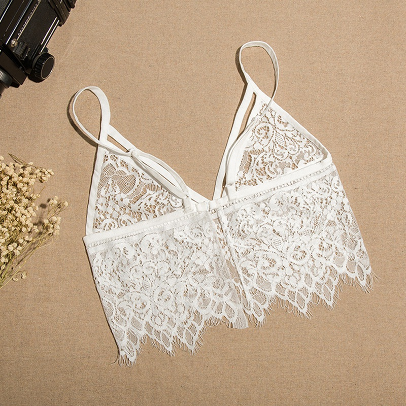 Hollow-Translucent-Fashion-Underwear-Strap-Openwork-Bra-Wild-Vest-D5F8 thumbnail 7