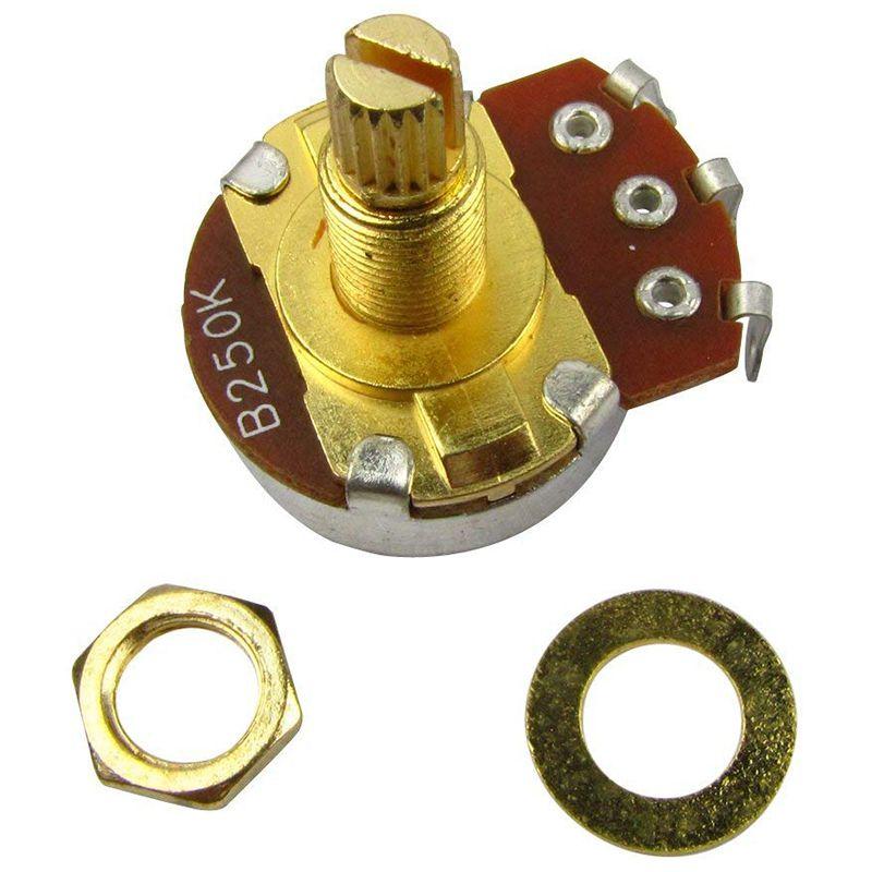 10Pcs-Guitare-Pleine-Taille-Pots-L18mm-Arbre-Volume-Audio-Potentiometres-Co-2C5 miniature 4