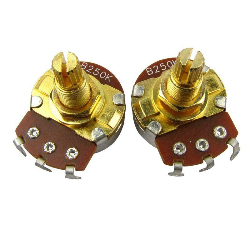10Pcs-Guitare-Pleine-Taille-Pots-L18mm-Arbre-Volume-Audio-Potentiometres-Co-2C5 miniature 6
