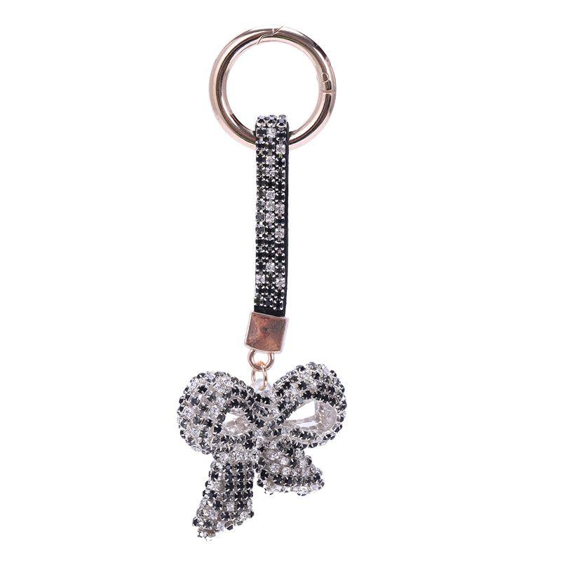 1-Pcs-Rhinestone-Bow-Jewelry-Keychain-Women-Key-Holder-Chain-Ring-Car-Bag-P-X5T4 miniature 12