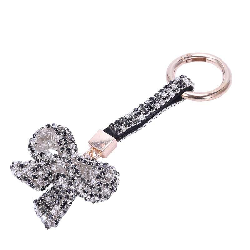 1-Pcs-Rhinestone-Bow-Jewelry-Keychain-Women-Key-Holder-Chain-Ring-Car-Bag-P-X5T4 miniature 13