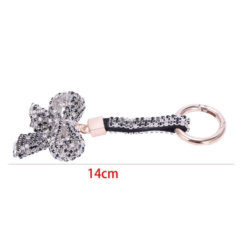 1-Pcs-Rhinestone-Bow-Jewelry-Keychain-Women-Key-Holder-Chain-Ring-Car-Bag-P-X5T4 miniature 14
