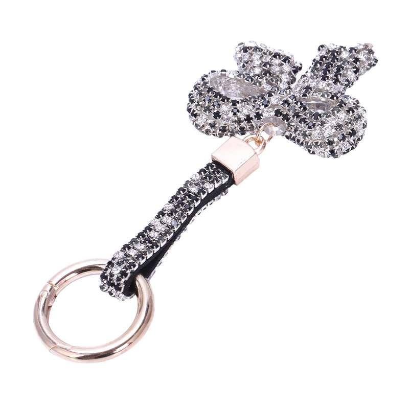 1-Pcs-Rhinestone-Bow-Jewelry-Keychain-Women-Key-Holder-Chain-Ring-Car-Bag-P-X5T4 miniature 15