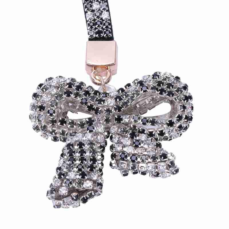1-Pcs-Rhinestone-Bow-Jewelry-Keychain-Women-Key-Holder-Chain-Ring-Car-Bag-P-X5T4 miniature 17