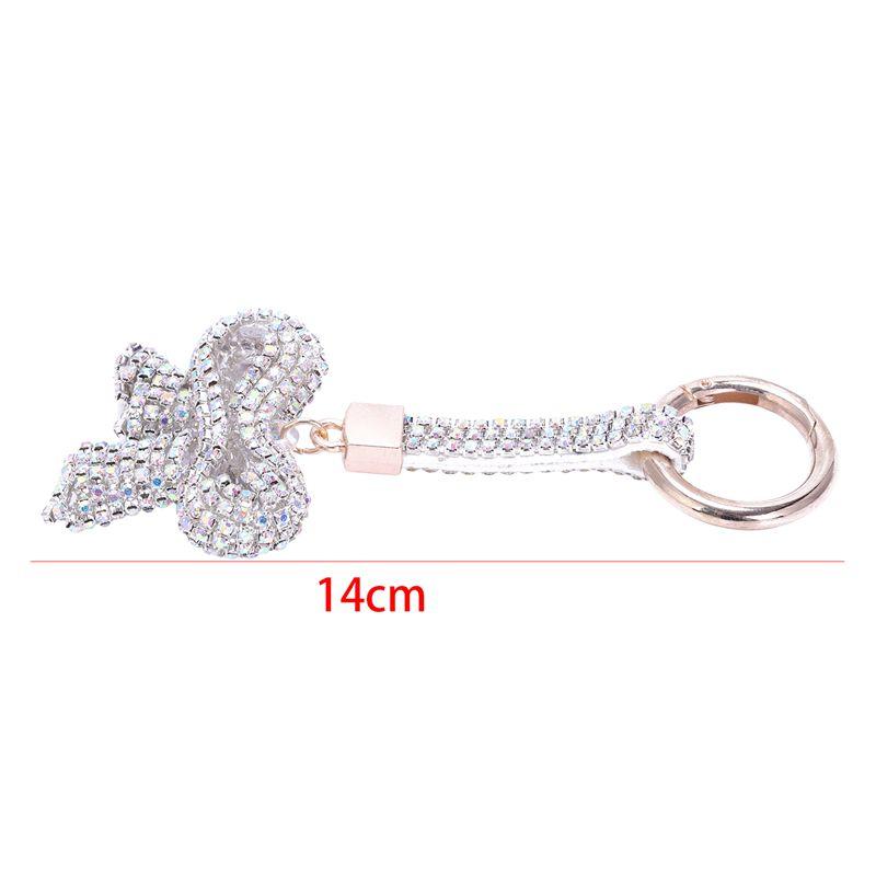 1-Pcs-Rhinestone-Bow-Jewelry-Keychain-Women-Key-Holder-Chain-Ring-Car-Bag-P-X5T4 miniature 22