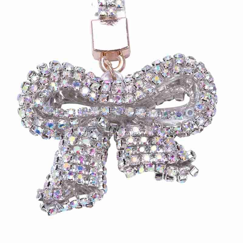 1-Pcs-Rhinestone-Bow-Jewelry-Keychain-Women-Key-Holder-Chain-Ring-Car-Bag-P-X5T4 miniature 25