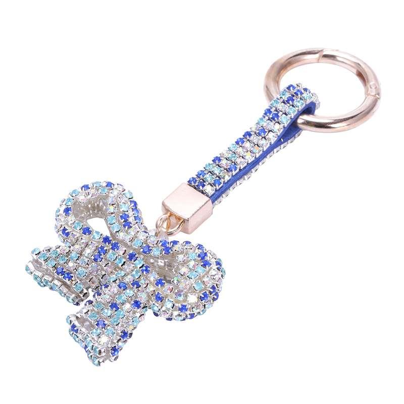 1-Pcs-Rhinestone-Bow-Jewelry-Keychain-Women-Key-Holder-Chain-Ring-Car-Bag-P-X5T4 miniature 37