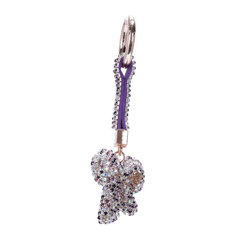 1-Pcs-Rhinestone-Bow-Jewelry-Keychain-Women-Key-Holder-Chain-Ring-Car-Bag-P-X5T4 miniature 44