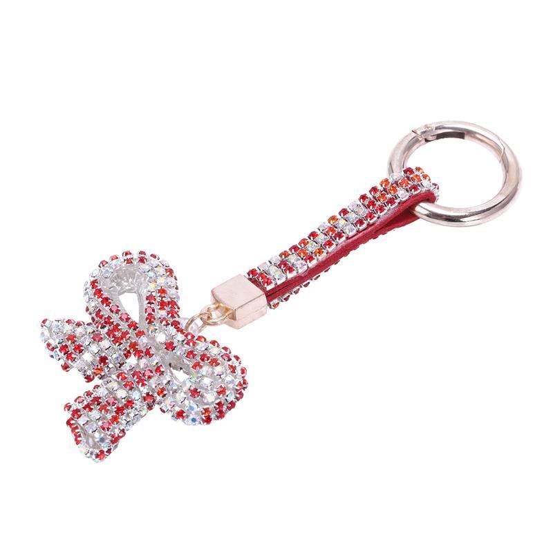 1-Pcs-Rhinestone-Bow-Jewelry-Keychain-Women-Key-Holder-Chain-Ring-Car-Bag-P-X5T4 miniature 53