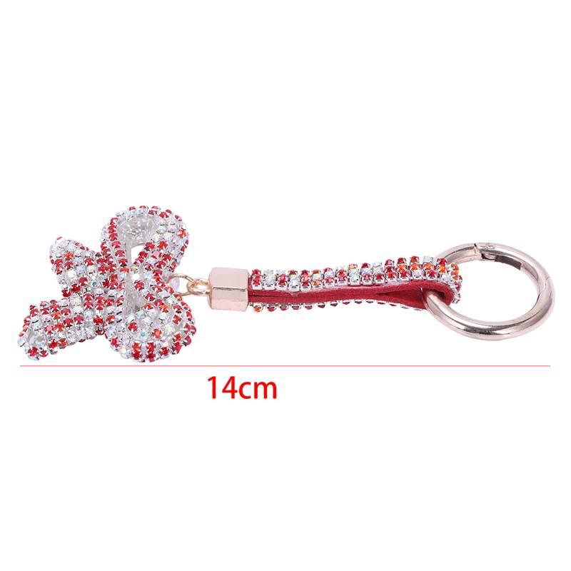 1-Pcs-Rhinestone-Bow-Jewelry-Keychain-Women-Key-Holder-Chain-Ring-Car-Bag-P-X5T4 miniature 54