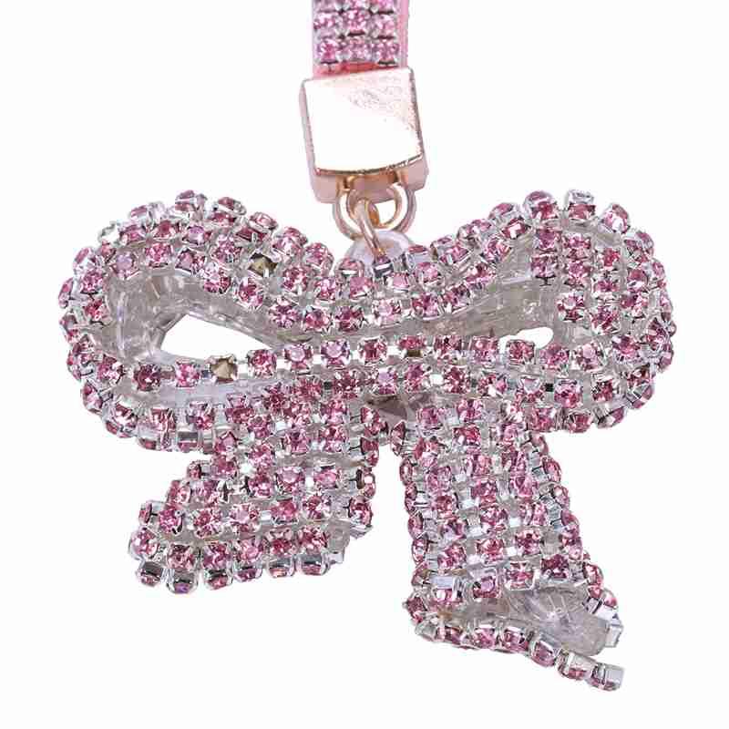 1-Pcs-Rhinestone-Bow-Jewelry-Keychain-Women-Key-Holder-Chain-Ring-Car-Bag-P-X5T4 miniature 64